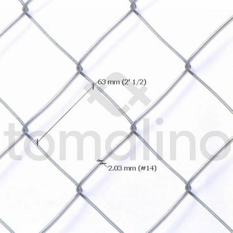 Alambre Tejido Romboidal 2 ½´, Alt 2.00m, ønº14, Largo 10mts