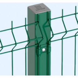Poste Metalico Cuadrado 60x60 X 2,00 M Verde