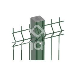 Poste Caño Metalico 60x60 X 2,50 M Verde