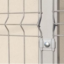 Poste Caño Metalico 60x60 X 2,50 M Gris